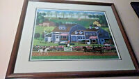 CHARLES WYSOCKI Prairie Wind Flowers - SIGNED/NUMBERED PRO FRAMED Art Americana