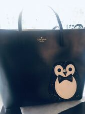 Kate Spade PENGUIN Clifton Lane Black Large Len Tote Bag Purse WKRU4142 Sparkly