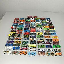 Large Lot of 100 Hot Wheels Die Cast Cars w/ Car Case Carrier - No Duplicates