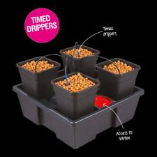 Wilma Small 4x11 Litre 4 Pot Complete Dripper System Hydroponics Grow Tent Kits