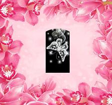 Schmetterling -15, Fingernagel Wraps Nail Art Tattoo Sticker Decal Folie 14 Stk