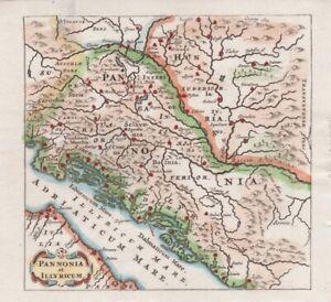 1661 Fine Cluver Map of Croatia, Dalmatia