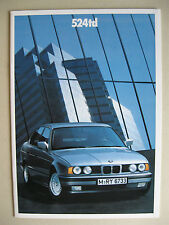 Prospekt bmw 524td e34 115 CV Limousine año del modelo 1988 1989 Deutsch