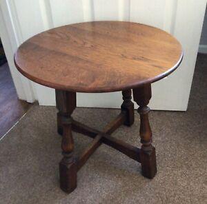 Vintage Oak Side Occasional Table