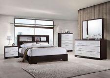 Timeless Design Bedroom Furniture 4p Set Eastern King Size Bed Dresser Mirror NS
