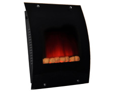 Blyss Wall Mounted Electric Fire Black Glass Frame With Remote Control