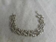 "SIGNED RB 925 STERLING WOVEN KNOT LINK 5/8"" CHAIN BRACELET  22 GRAMS"