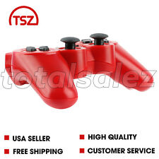 For Sony Playstation 3 PS3 Red Wireless Bluetooth Video Game Controller