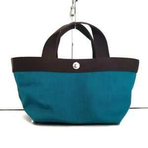 Auth Herve Chapelier Cordura Boat type Tote S 701C Blue Green Tote Bag