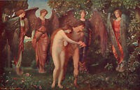ARTHUR NOWELL 1902 Oil Painting THE EXPULSION FROM EDEN 1930 Vintage Book Print