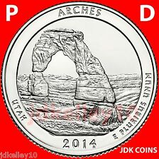 2014 P&D SET ARCHES NATIONAL PARK - UTAH - QUARTERS UNCIRCULATED FROM US MINT