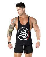 Strong Liftwear Royal Tback Mens Singlet Bodybuilding Stringer Vest Tank Top
