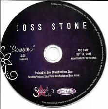 JOSS STONE Somehow w/ RARE EDIT USA PROMO DJ CD single DAVE STEWART Eurythmics