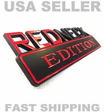 REDNECK EDITION emblem CHEVROLET car TRUCK logo DECAL BLACK RED ornament sign sx