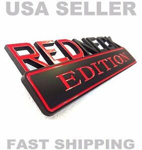 REDNECK EDITION HIGH QUALITY emblem car TRUCK logo DECAL BLACK RED ornament sign