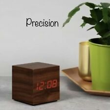 AP0001 Precision Wood finish alarm clock with calendar and snooze New
