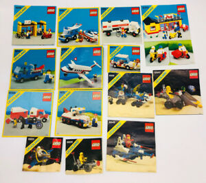 16 Vintage Lego Instructions lot LEGOLAND Space 6373~1572~6368~6698~6928~6847~