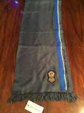 DRIES VAN NOTEN para hombre Fowler Parche Detalle bufanda en azul