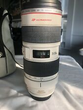 canon ef 70-200 mm f/2.8 l is usm lens Used In Very Good Condition