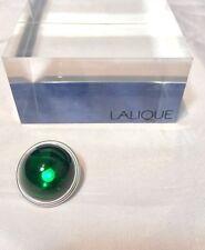 Lalique Cabochon Broche Emeraude Pin / brooch Emerald Spilla smeraldo NEW