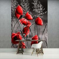 Fototapete Tapete Wandbild F12683 Vlies Mohnblumen  Feld Wiese Blume Mohn Blumen