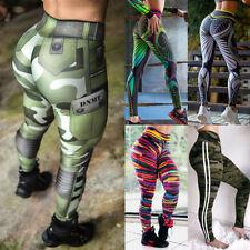Mujeres Cintura Alta Yoga Pantalones Leggings Pantalones De Entrenamiento Acanalada Butt Lift Fitness B