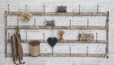 Wandhalter Wandhaken Metall creme Vintage Wandrack Chic Antique Tassenhalter NEU