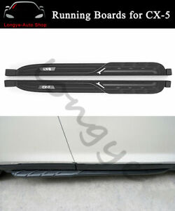 Fits For Mazda CX-5 CX5 2017-2022 Running Boards Nerf Bar Side Steps Protector