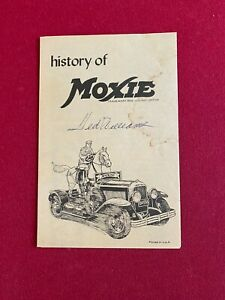 """1950's, Ted Williams, """"Autographed"""" (JSA Letter) MOXIE Brochure (RARE) Red Sox"""