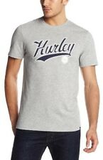 NEW HURLEY NIKE DRI FIT COLLEGE RULE GREY PREMIUM FIT GRAPHIC T SHIRT S SMALL SM