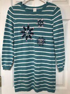 Gymboree Girls Size 10/12 Cotton Long Sleeved Sweater Dress