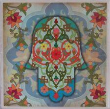 Set of 4 - Handmade Natural Stone Ceramic Tile Drink Coasters - Oriental - C