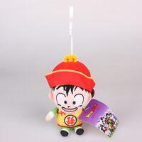 15Cm DragonBall Z Son Gohan Plush Toys Soft Stuffed Doll Key Chain Pendant Strap