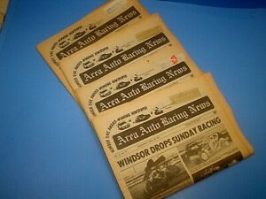 4 ISSUES 1977 AREA AUTO RACING NEWS PUBLISHED TRENTON NEW JERSEY NJ~