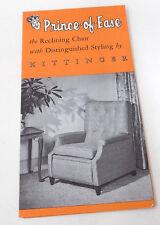 Vintage 50's-60's Brochure Kittinger Prince of Ease Recliner Chair