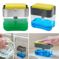 2In1 Pump Soap Dispenser And Sponge Caddy For Kitchen Dish Soap with Sponge Rack