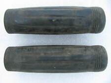 Old vintage Black Flex-Grip Harley Handlebar Grips Knucklehead Panhead Flathead