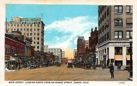 Postcard Main Street, Looking North from Exchange Street in Akron, Ohio~122251