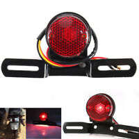 Stop Red Light License Plate Rear Motorcycle Tail Brake Stop Red Lamps Universal