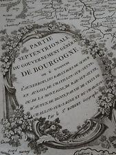 1) Carte de la Bourgogne septentrionale-1751-Robert De VAUGONDY-Géographe du Roi
