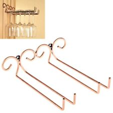 2 Pack Bar Home Wall-mounted Red Wine Glass Hanger Holder Rack Stainless Steel