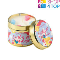 BIRDS OF PARADISE TINNED CANDLE TIN BOMB COSMETICS CITRUS SCENTED NEW