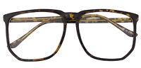 Vintage Inspired Big Horn Rim Frame Retro Nerd Geek Oversize Eyeglasses