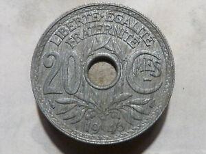 20 CENTIMES - LINDAUER - 1945 - VRAIMENT RARE EN QUALITE SUP !