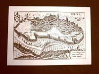 Antica veduta della città di Velletri Incisione del 1616 Ristampa