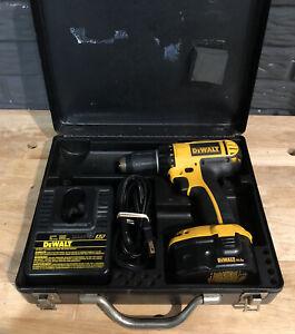 """DeWalt DC730 14.4V 1/2"""" Cordless Drill Set W/ 1 Battery & Charger + Metal Case"""