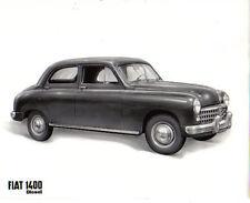 FIAT 1400 Diesel Berlina intorno al 1953 ORIGINALE NERO & BIANCO FOTOGRAFIA