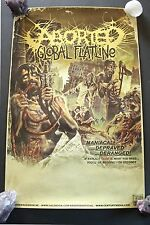 Aborted Promo Poster Global Flatline 11x17 Death Metal Century Media Original