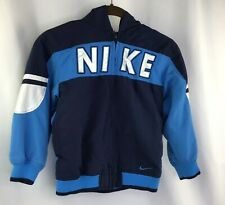 Nike Boy's Size 7 Full Zip Light Weight Jacket with Hood Light Blue/Dark Blue