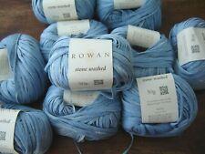 Rowan Stone Washed 100% cotton LIGHT AGED  knitting yarn  10 x 50g